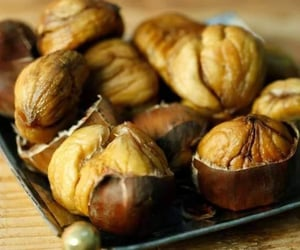 chestnuts, food, and winter image