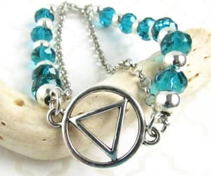 etsy, sobriety support, and crystal bracelet image