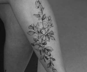 floral, flower tattoo, and flowers image