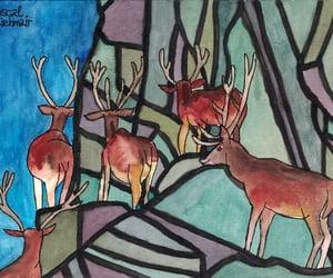 Alps, aquarell, and ilustracion image