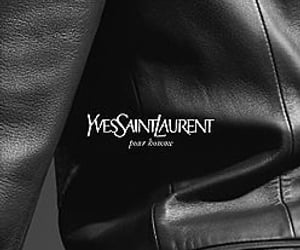 fashion, YSL, and leather image