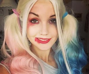 costume, harley quinn, and make up image