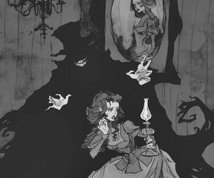 art, goth, and illustration image