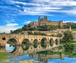 bridge, france, and cathedral image
