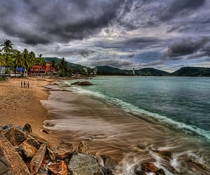 photoshop, hdr photography, and patong beach image