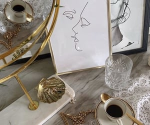 coffee, gold, and home image