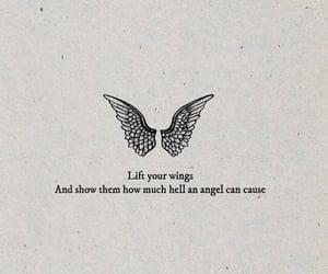 quotes, angel, and wings image