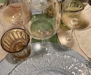 dinner, glass, and pastel image