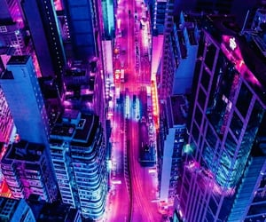 city, light, and aesthetic image
