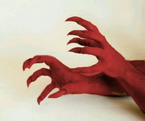 claw, red, and demon image