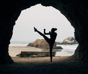 beach and yoga image