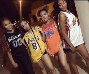 besties, black girl magic, and girl gang image