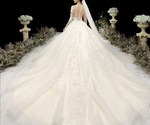 beading, bridal, and bridal gown image