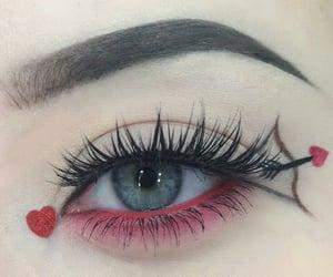 eye, green, and makeup image