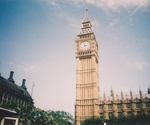 london, Big Ben, and vintage image