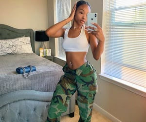 camo, female, and baddie image