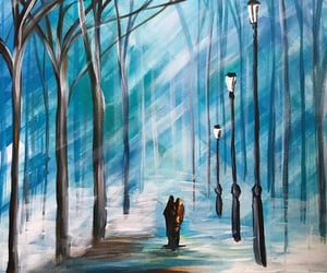 art, ice, and leonid afremov image
