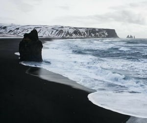 beach, black, and nature image