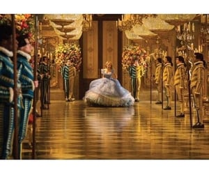 ball, castle, and cinderella image