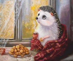autumn, cute, and hedgehog image