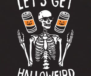 gif, Halloween, and skeleton image