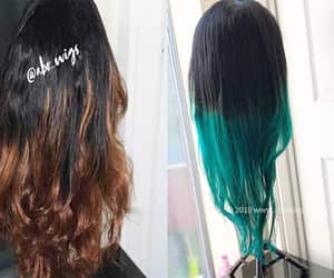 etsy, lace front wig, and ombre wig image