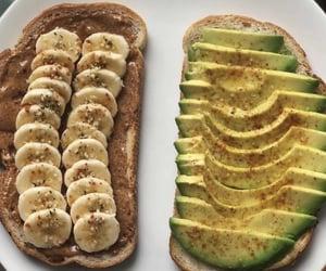 avocado, banana, and bread image