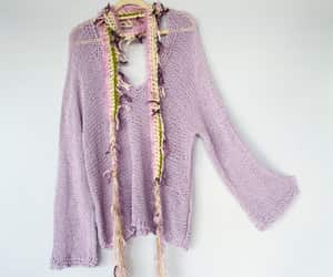 etsy, purple knit sweater, and pagan clothing image