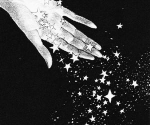 stars, art, and hand image