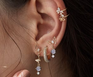 earrings, piercing, and jewelry image