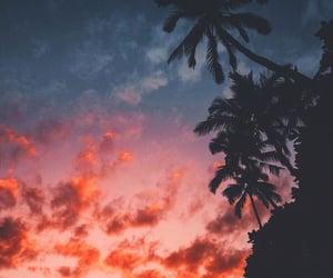 sunset, beautiful, and landscape image
