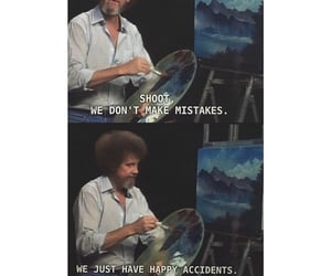 bob ross, happy, and quotes image
