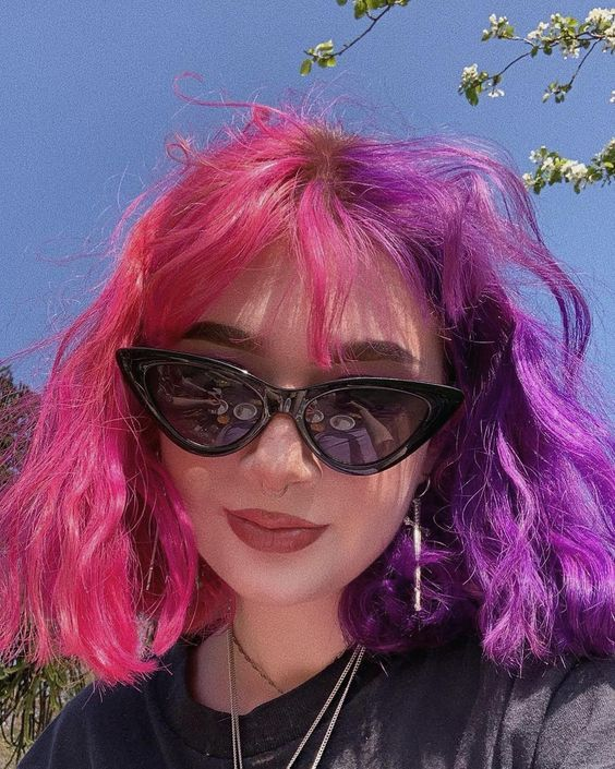 hair, girl, and dyed hair image