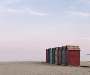 colours, beach, and Houses image