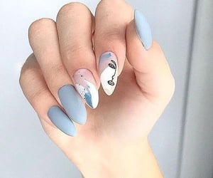 blue, nails, and beautiful image