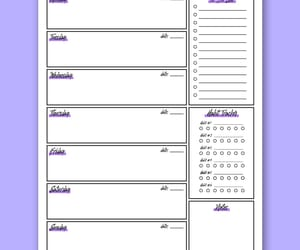 planner, printable, and weekly planner image