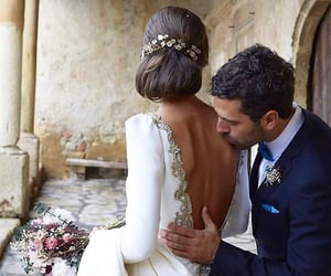 wedding, couple, and outfit image