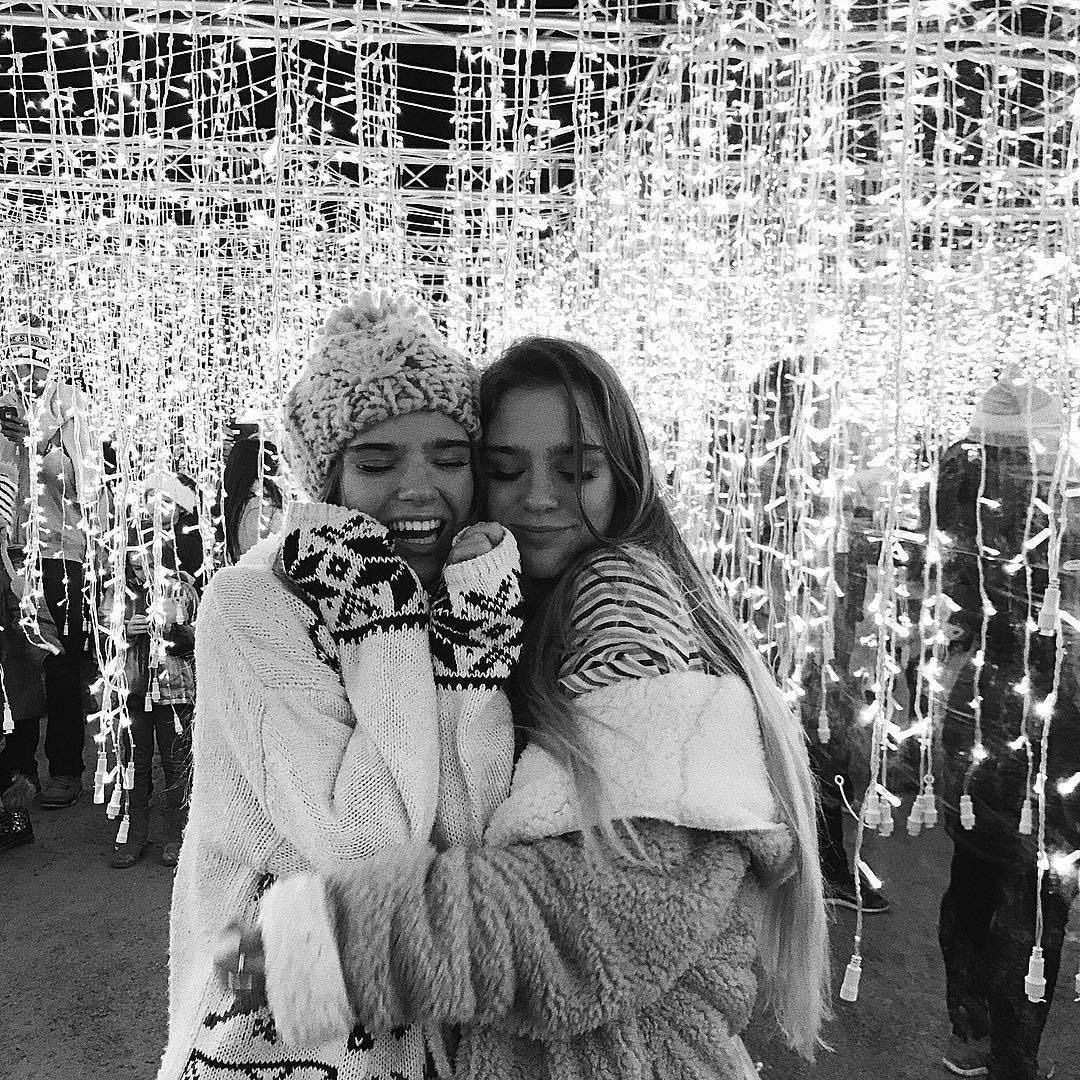 girl, black and white, and lights image