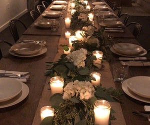 candles, deco, and dinner image