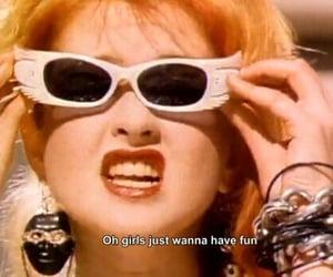 fun, Cyndi Lauper, and vintage image