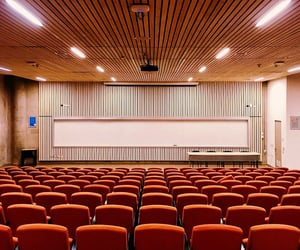 classroom, seats, and lecture image