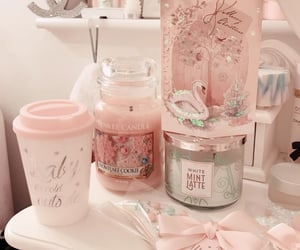 pink, christmas, and decor image