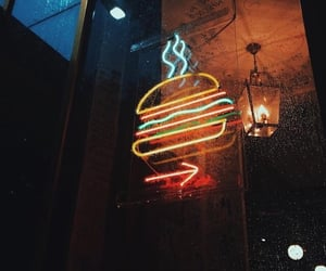 burger, food, and light image