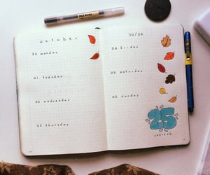 bujo, bullet journal, and weekly layout image