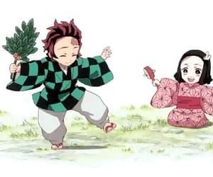 anime, tanjiro, and anime girl image