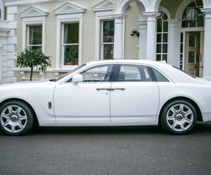 wedding car hire, wedding cars london, and rolls royce ghost hire image