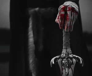 black, blood, and dark fantasy image