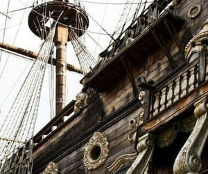 pirate, ship, and sea image