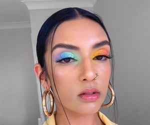 makeup, rainbow, and style image