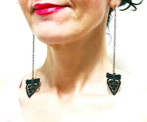 Dangle, Halloween, and statement earrings image